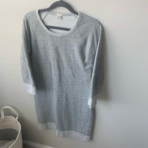 J.Crew medium, gray sweatshirt tunic